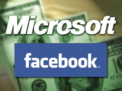 facebook and microsoft